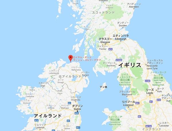 ロイヤル・ポートラッシュ・ゴルフ・クラブ場所の地図